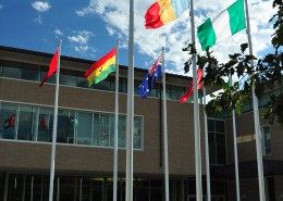 UIU Student Center Flag Courtyard