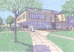 UIU Student Center Sketch
