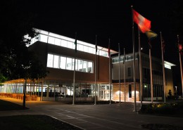 UIU Student Center at Night