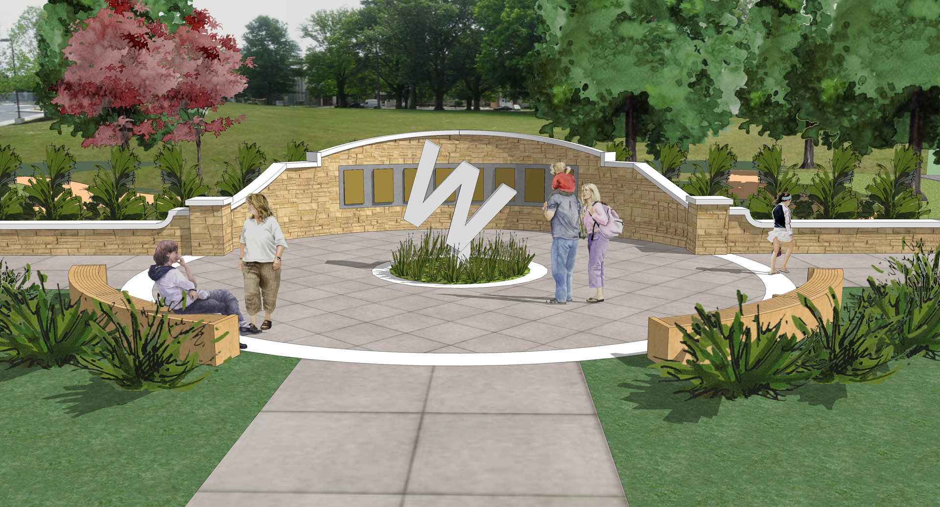 Warwick High School Alumni Plaza Perspective