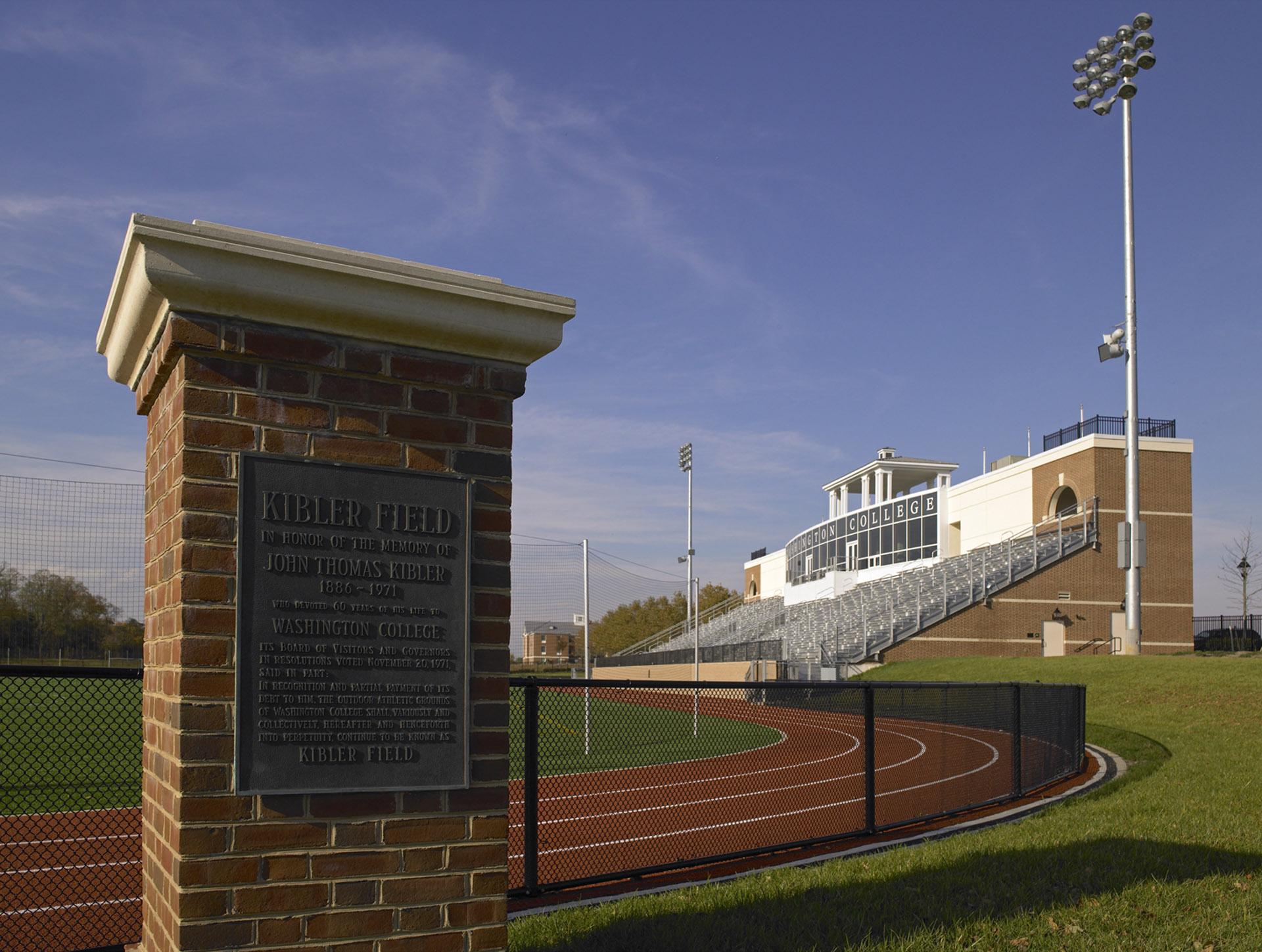 Washington College Kibler Field Plaque