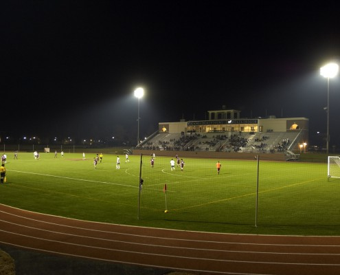 Washington College Stadium at Night