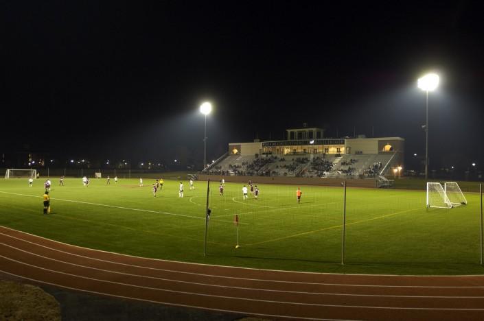 Washington College Stadium at Night
