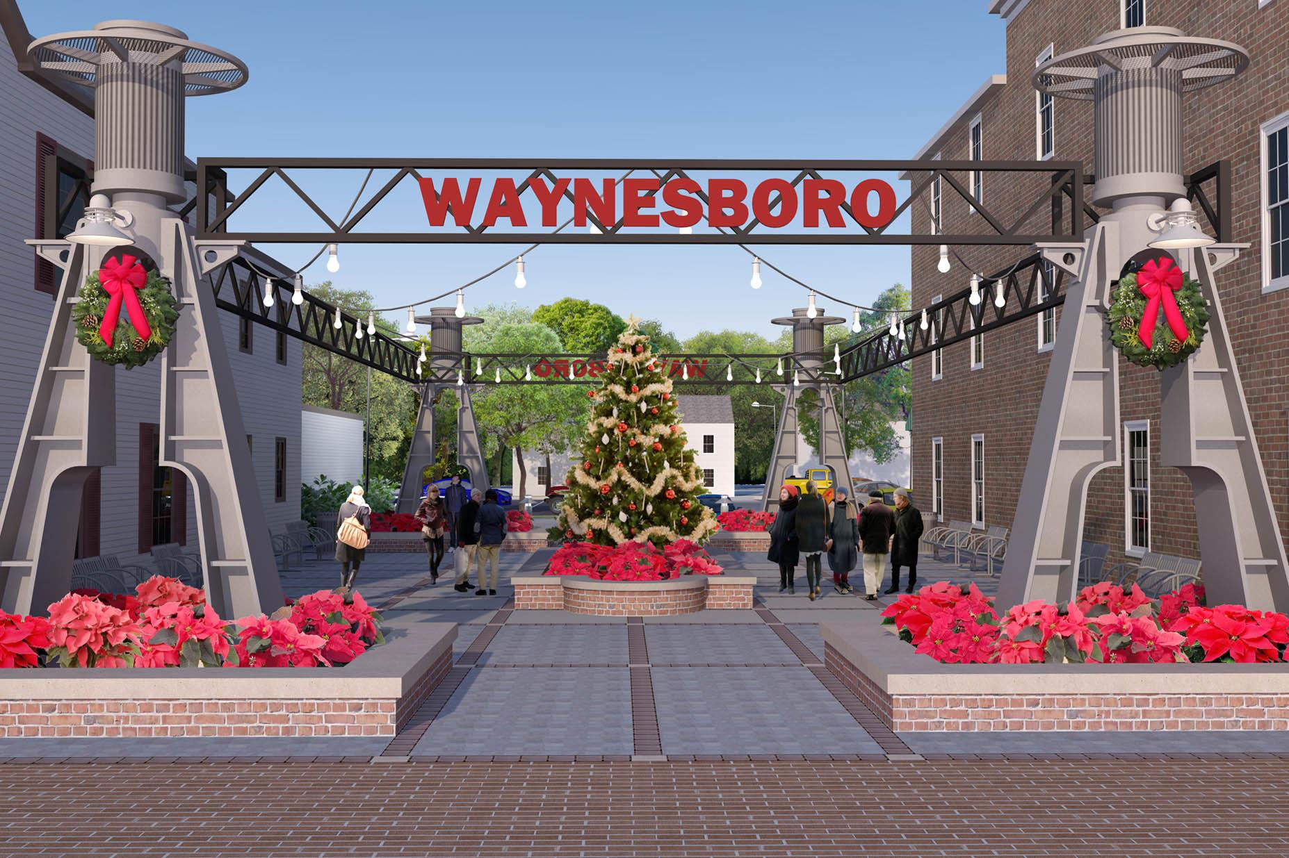 Waynesboro Pocket Park Christmas Daytime