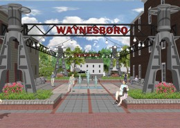 Waynesboro Pocket Park Entrance
