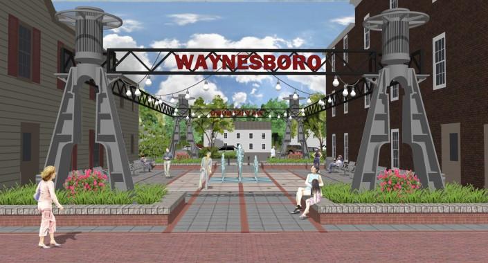Waynesboro Pocket Park Entrance
