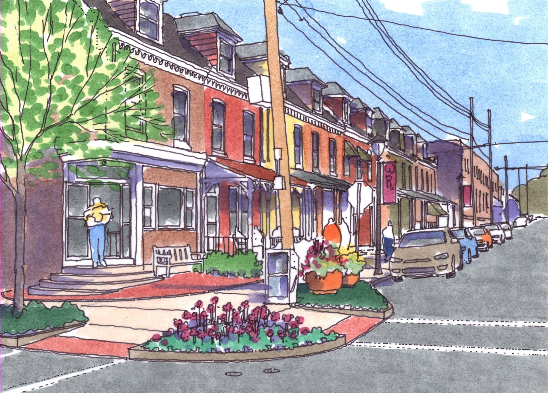 West Reading Elm Street Streetscape After