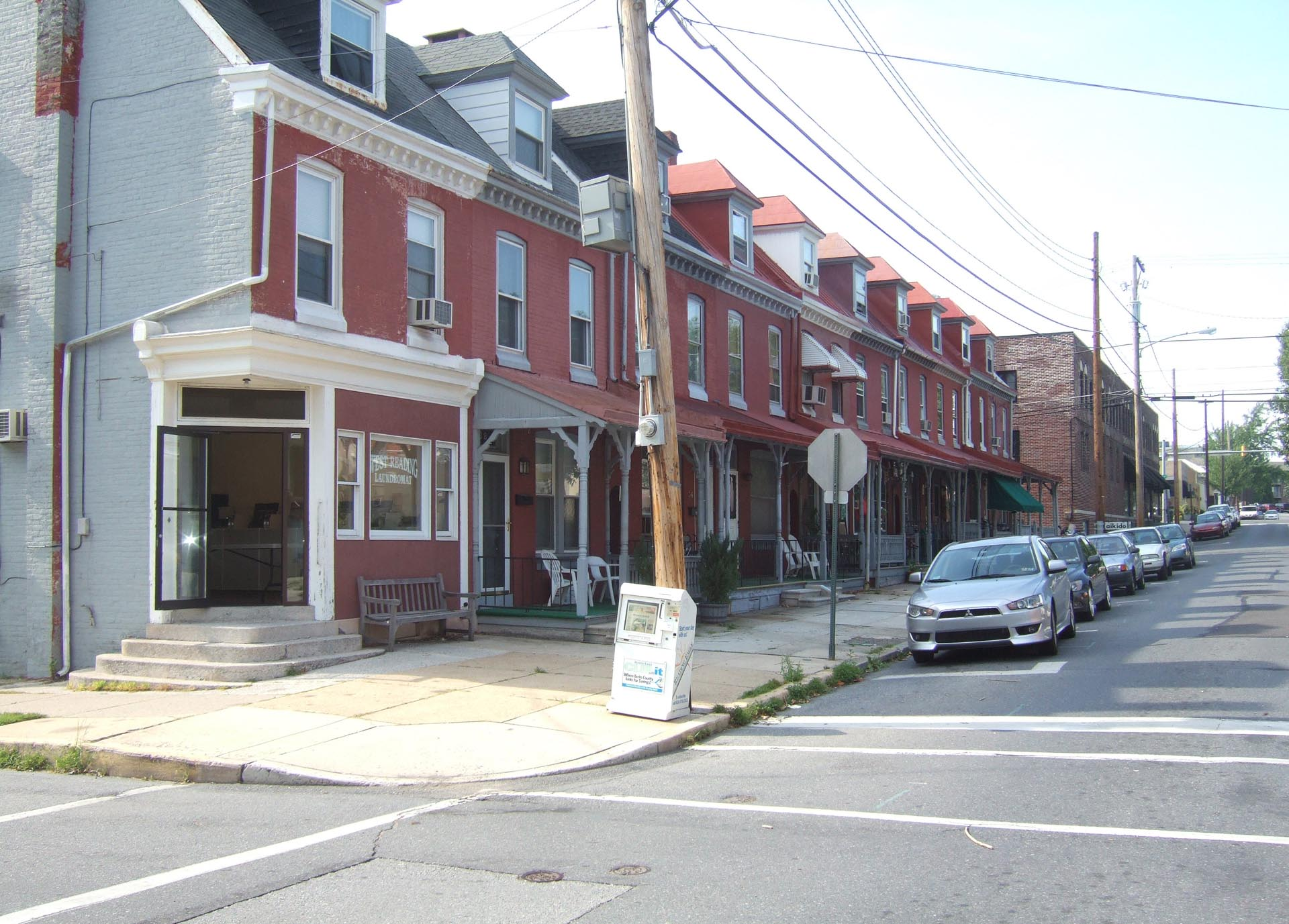 West Reading Elm Street Streetscape Before
