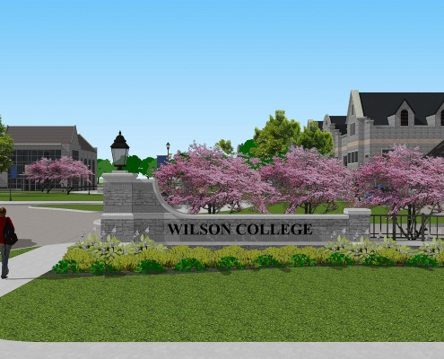 Wilson College Entrance Sign